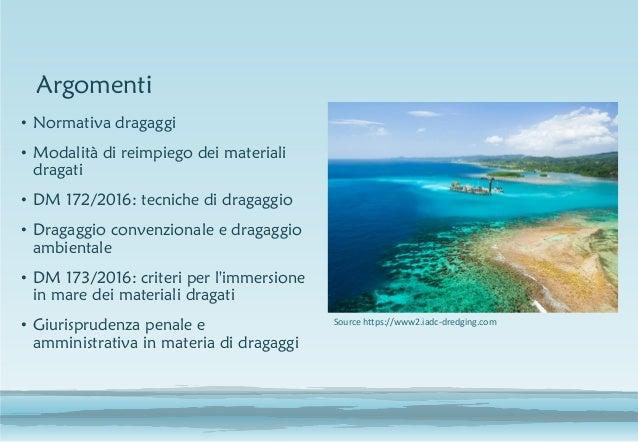 Aspetti giuridici nella gestione dei sedimenti Slide 2