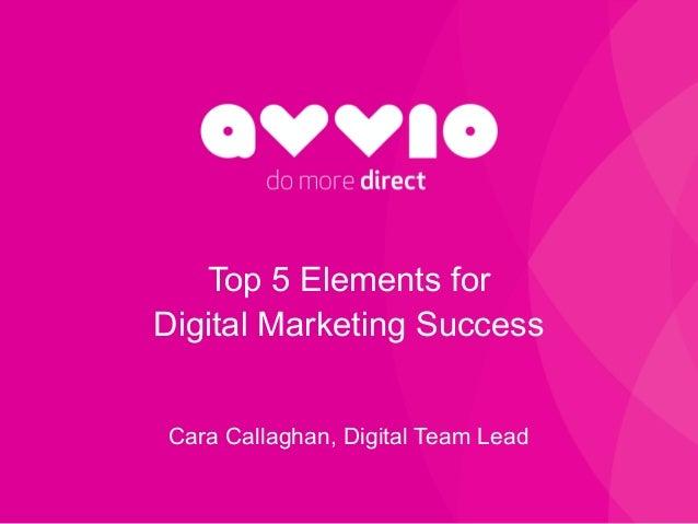 do more direct Top 5 Elements for Digital Marketing Success Cara Callaghan, Digital Team Lead