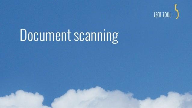 Document scanning 5Tech tool: