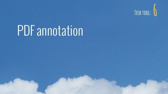 6 PDF annotation Tech tool: