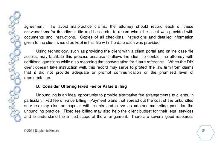 Unbundling Legal Services