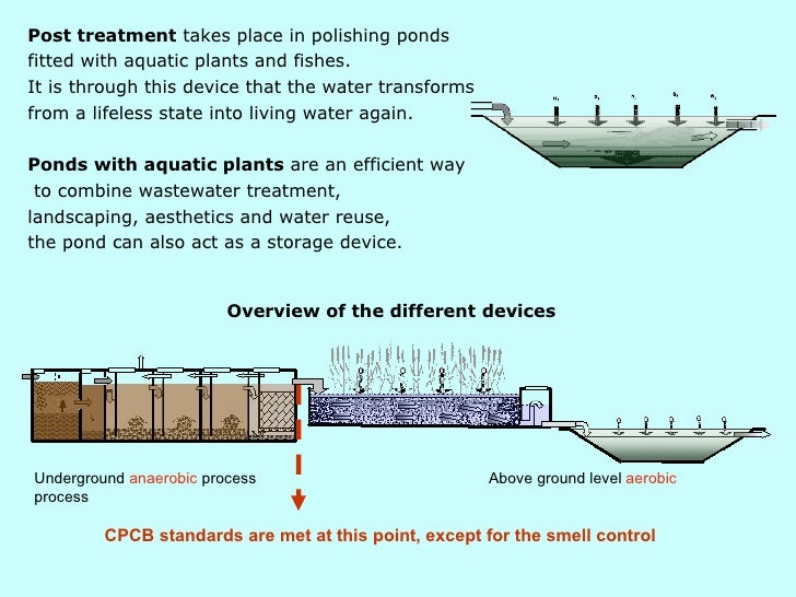 Dewats Decentralised Natural Waste Water Treatment System