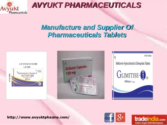 AVYUKT PHARMACEUTICALSAVYUKT PHARMACEUTICALS Manufacture and Supplier OfManufacture and Supplier Of Pharmaceuticals Tablet...