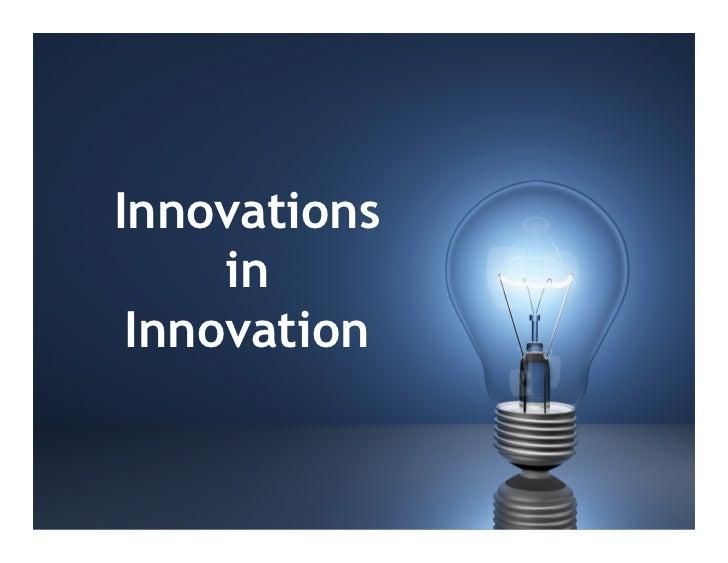 Innovations     in Innovation