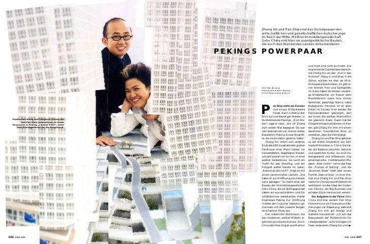 Zhang Xin und Pan Shiyi sind das Vorzeigepaar des                                                          wirtschaftliche...