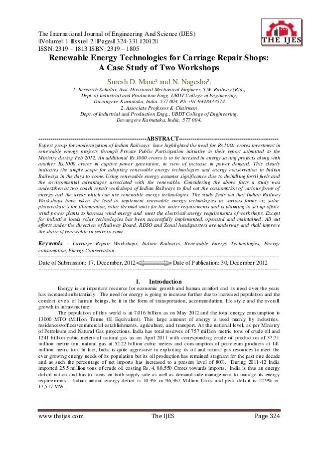 The International Journal of Engineering And Science (IJES)||Volume|| 1 ||Issue|| 2 ||Pages|| 324-331 ||2012||ISSN: 2319 –...