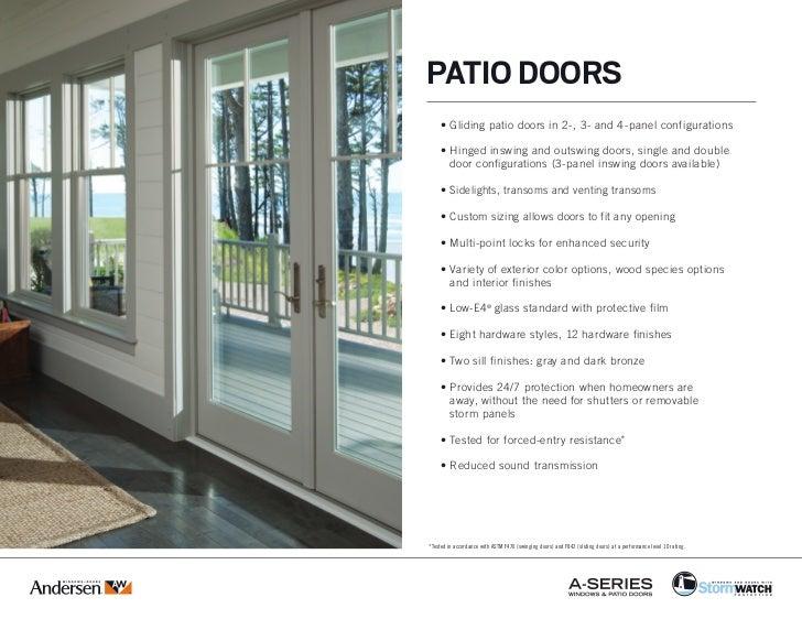 Andersen A Series Coastal Windows Amp Doors