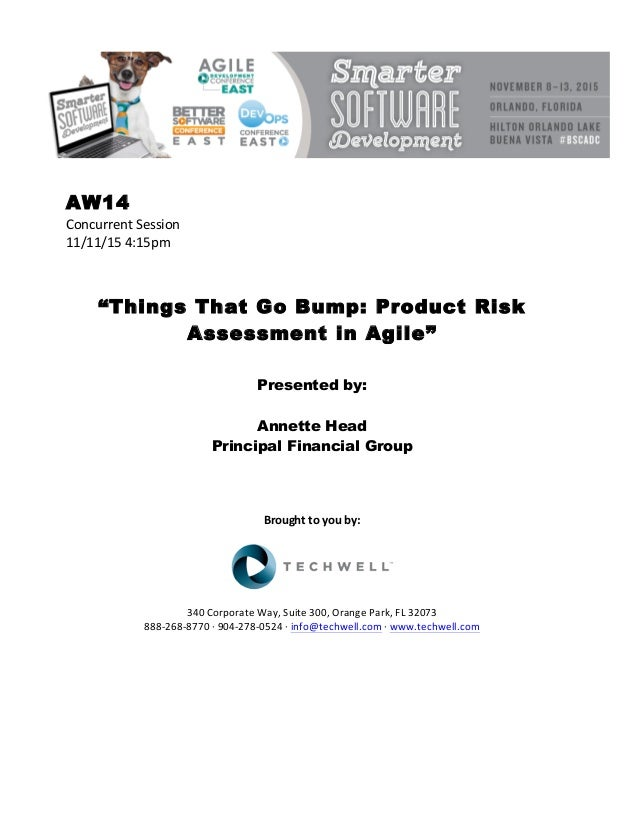 Things That Go Bump Product Risk Assessment in Agile – Product Risk Assessment
