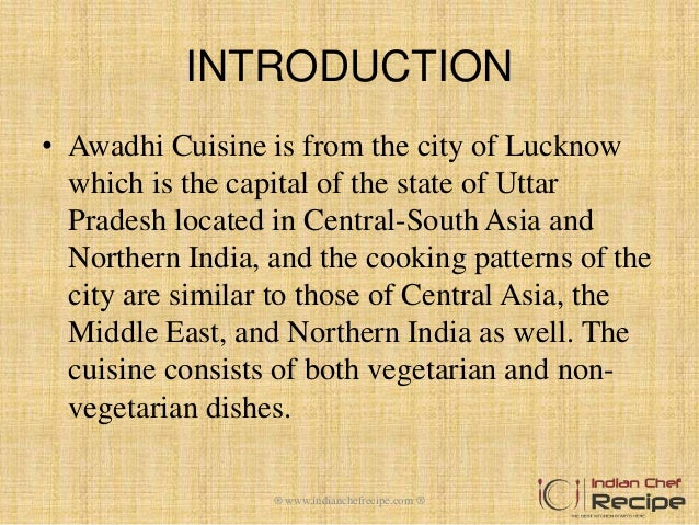 Awadhi cuisine by indianchefrecipe for Awadhi cuisine vegetarian