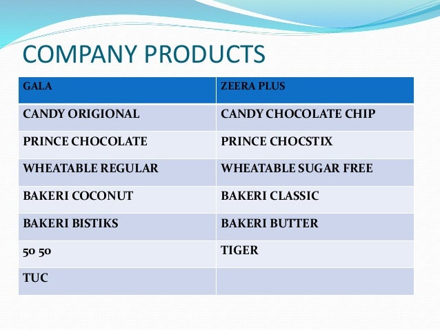 Marketing planning of biscuit company