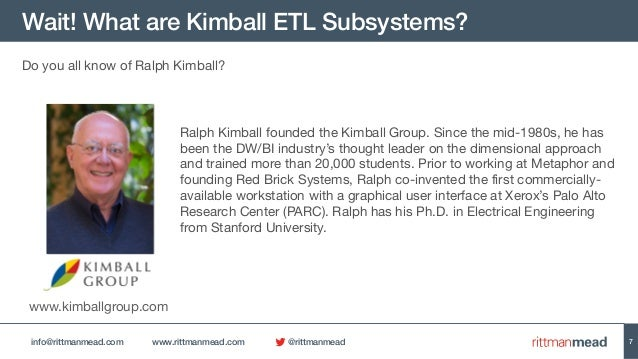 A Walk Through The Kimball Etl Subsystems With Oracle Data