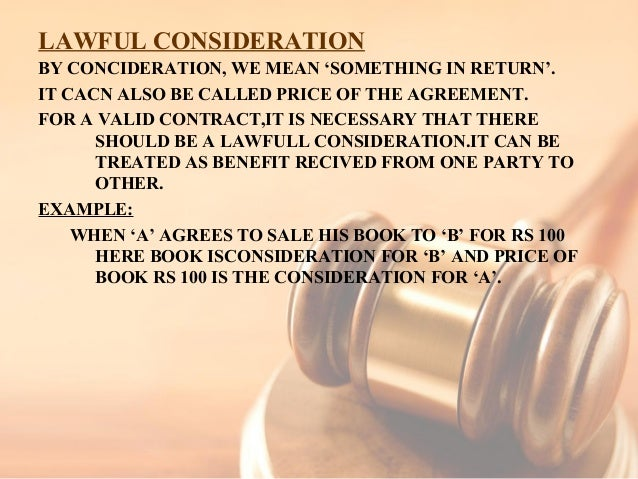 lawful consideration example