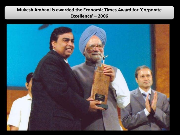 Awards Amp Accolades Recieved By Mukesh Ambani
