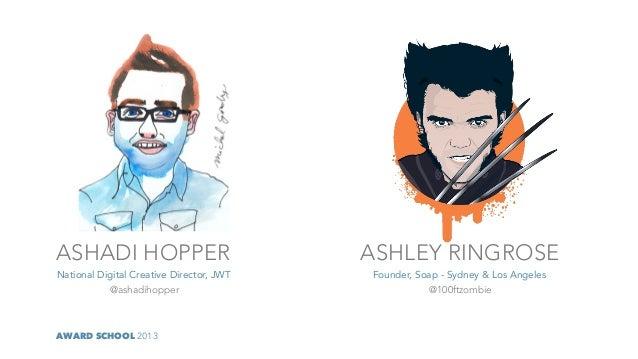 ASHADI HOPPER                             ASHLEY RINGROSENational Digital Creative Director, JWT   Founder, Soap - Sydney ...