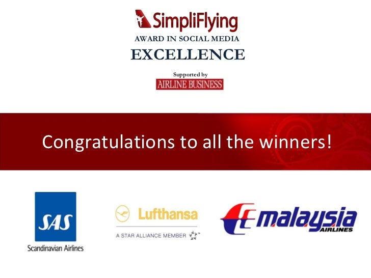 Congratulations to all the winners! Supported by AWARD IN SOCIAL MEDIA  EXCELLENCE