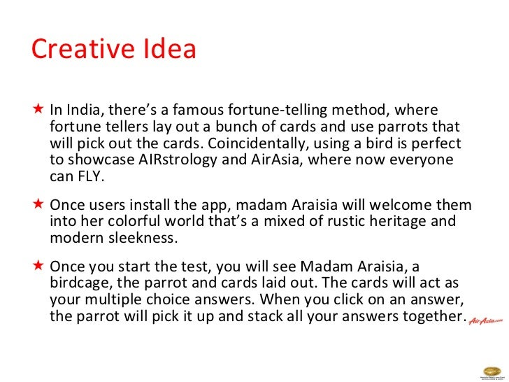 Creative Idea  <ul><li>In India, there's a famous fortune-telling method, where fortune tellers lay out a bunch of cards a...