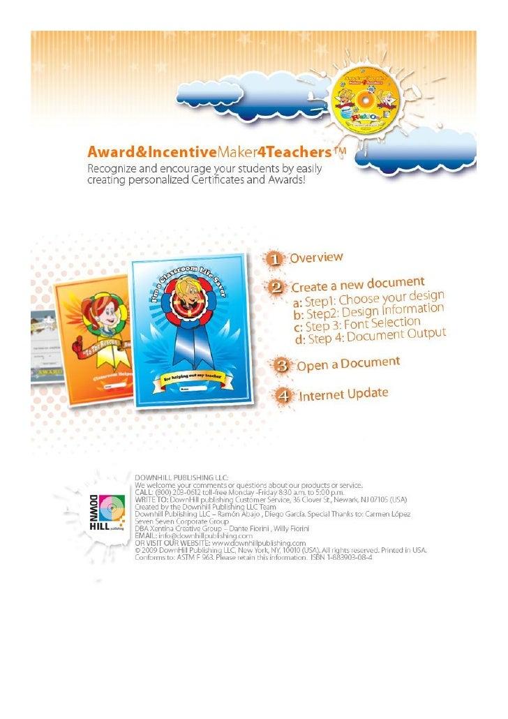 Award Maker 4 Teachers Slide 2