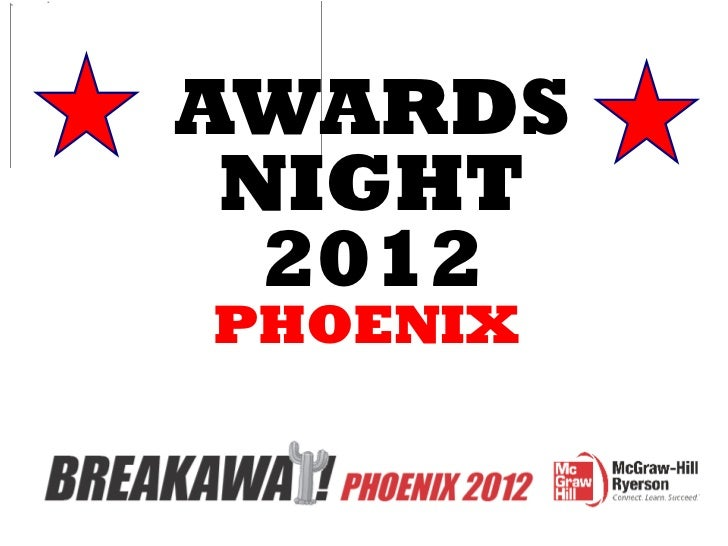 AWARDS NIGHT 2012 PHOENIX