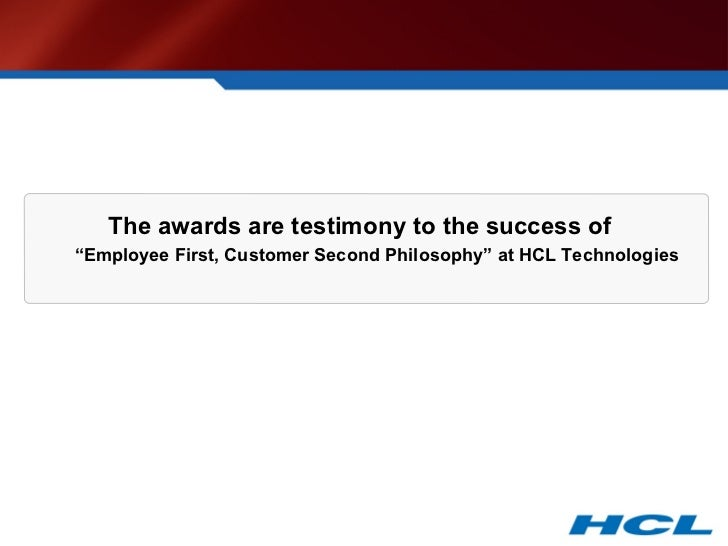 organizational culture at hcl technologies Hcl technologies 14m likes official facebook page of hcl technologies | g2000 organization | $74 billion enterprise | 119,000 employees | 32 countries.