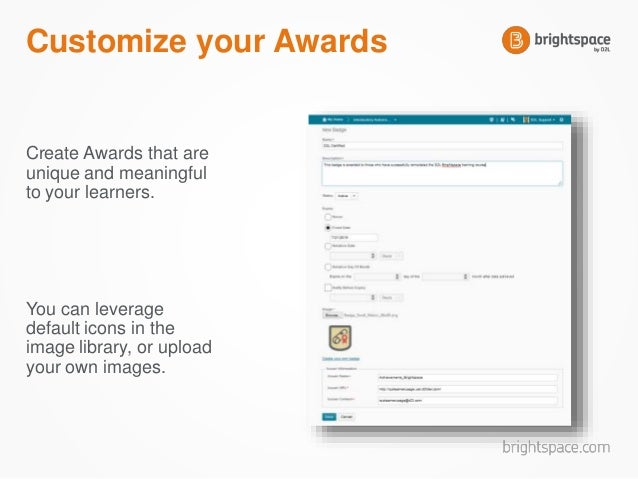 badges and certificates with the brightspace awards tool