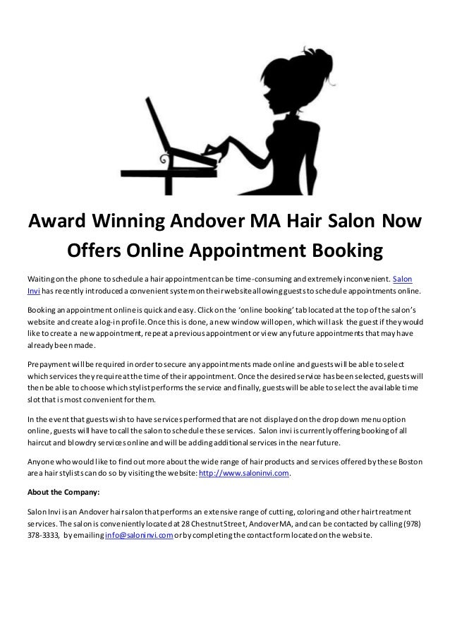 Award Winning Andover Ma Hair Salon Now Offers Online Appointment Boo