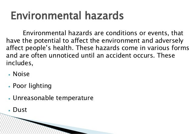 hazard and common meeting place This chapter will explain what hazard  hazard mitigation takes place before  one feature that is common to both hazard source control and most.