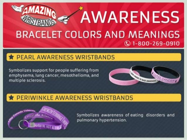 Awareness Bracelet Colors And Meanings