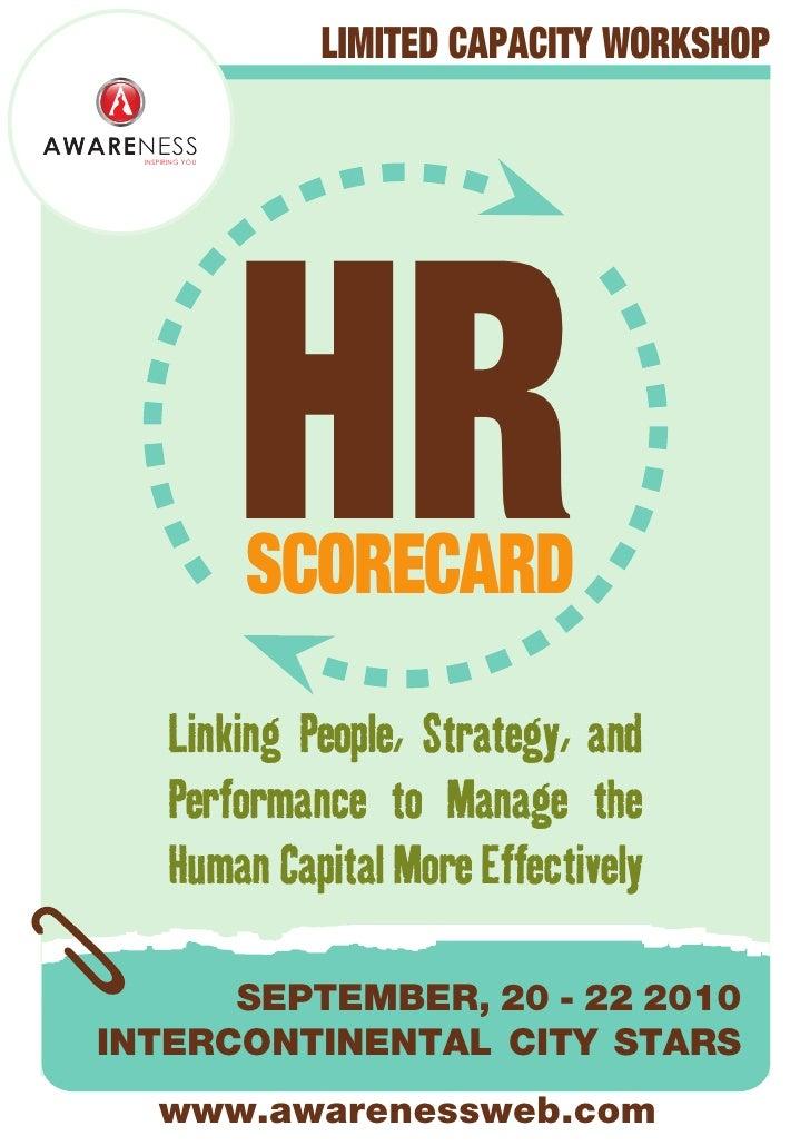 Awareness - HR Scorecard - Brochure