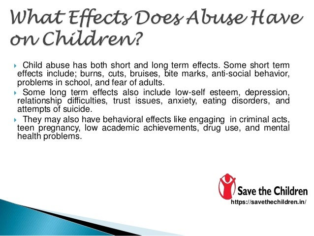 long term effects of child abuse essays