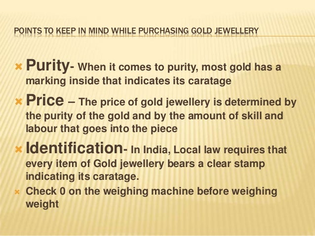 Awareness on gold jewellery