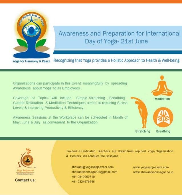 Awareness & prepration   for   international day of yoga 21 june