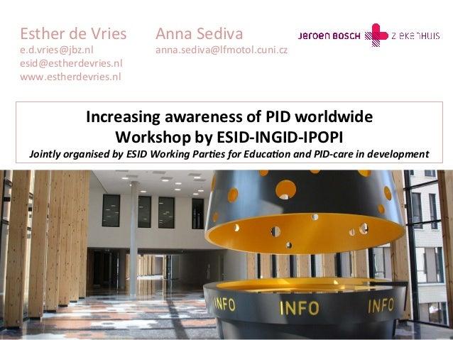 Esther de Vries                  Anna Sediva e.d.vries@jbz.nl                    anna.sediva@lfmotol.cuni.cz...