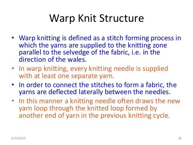 Knitting Meaning : Warp knitting design