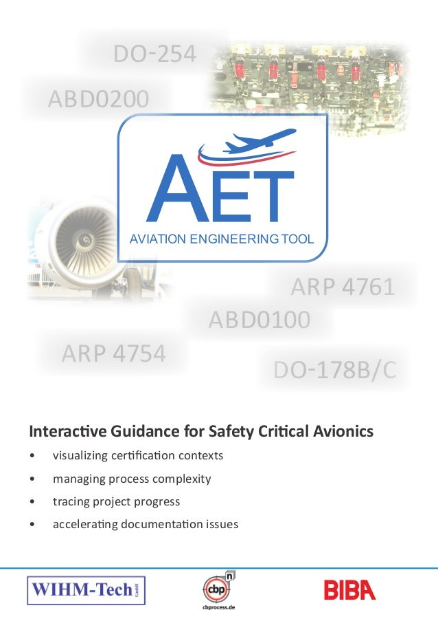 Interactive Guidance for Safety Critical Avionics • visualizing certification contexts • managing process complexity • ...