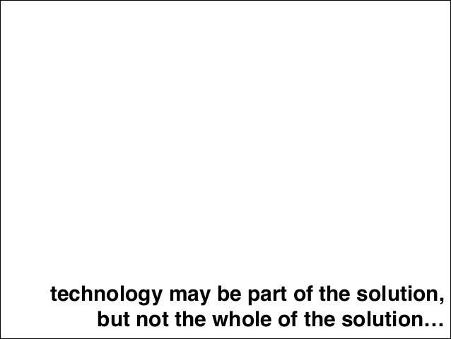 AFRAID Don't be of technology