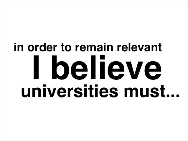 A Way Forward for the University in a Digital Age
