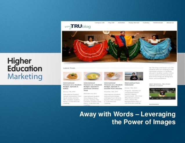 Away With Words – Leveraging the Power of Images  Away with Words – Leveraging the Power of Images Slide 1