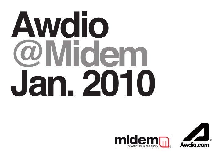 AwdioPitch @Midem Jan. 2010