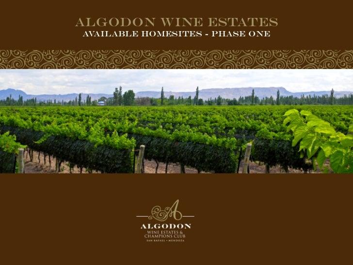 Algodon Wine EstatesAvailable Homesites - Phase one