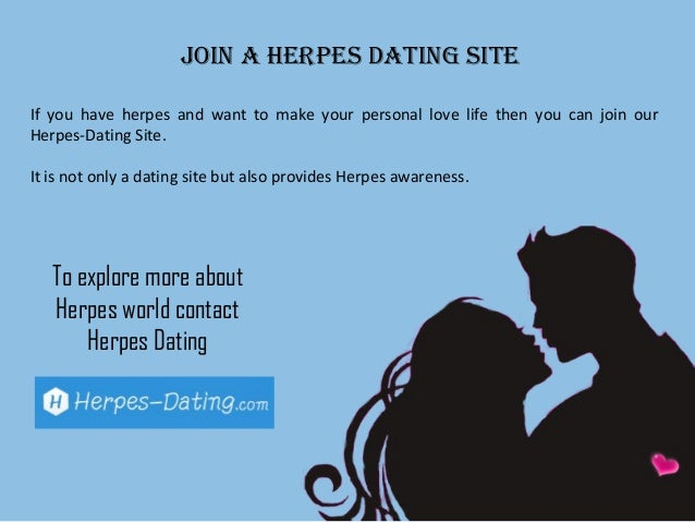 Dating sites how to say you have herpes