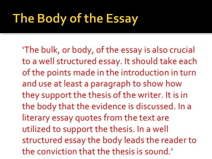 structured essay
