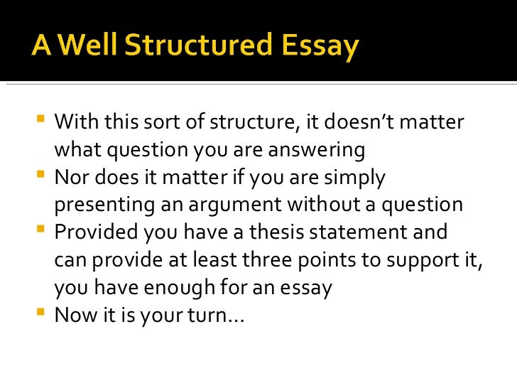 structured essay s sstructured essay booklet a well structured a well structured essay