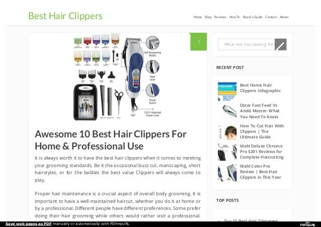 Awesome 10 Best Hair Clippers