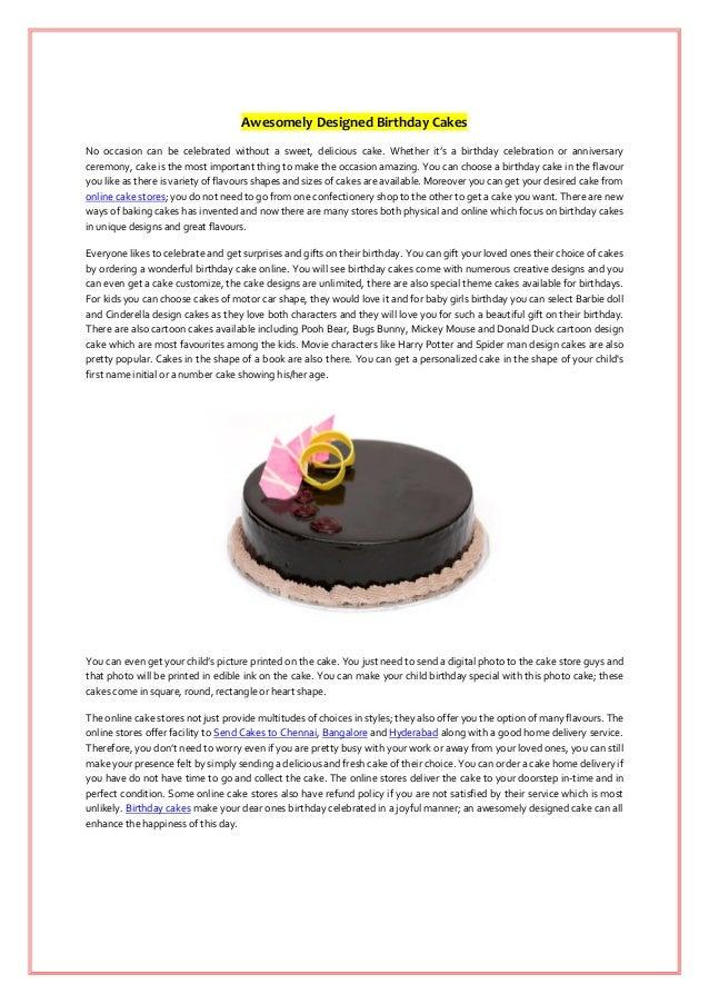 Cool Awesomely Designed Birthday Cakes Personalised Birthday Cards Vishlily Jamesorg