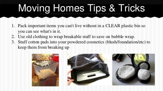 Awesome moving tips & tricks