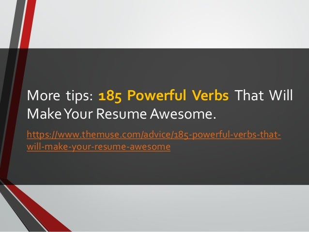 how to make your resume impressive