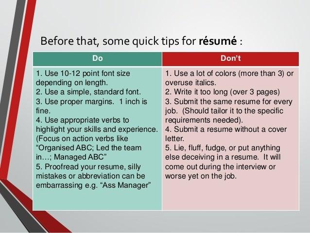 SlideShare  How To Make An Impressive Resume