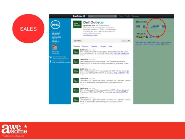 SALES DELL: 34 TWITTER ACOUNTS...