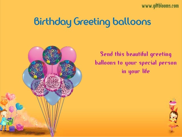Birthday Greeting Balloons Send