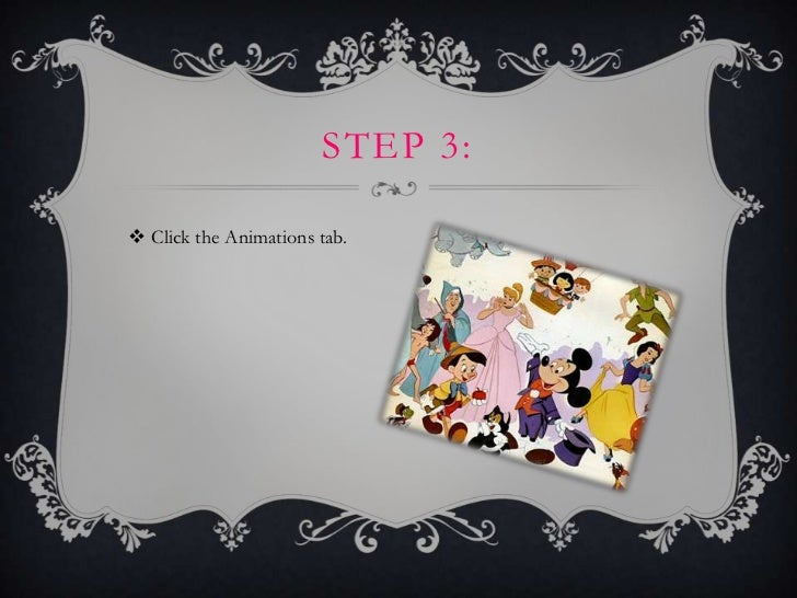 STEP 3: Click the Animations tab.